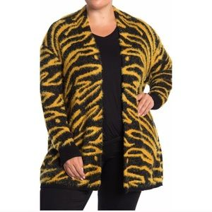 Susina animal print soft long sleeve cardigan
